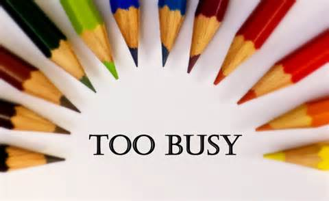 Too busy to care about God?
