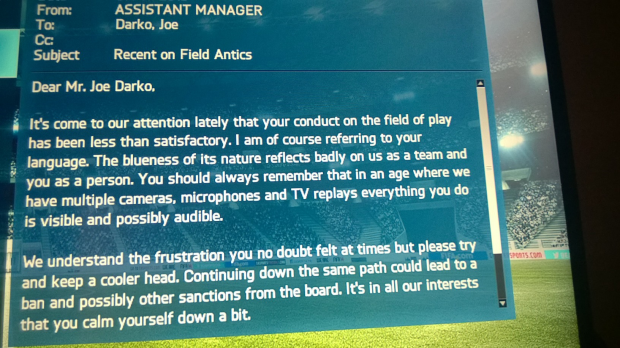 On Field Antics in FIFA on the XBOXOne leading to ban and suspension