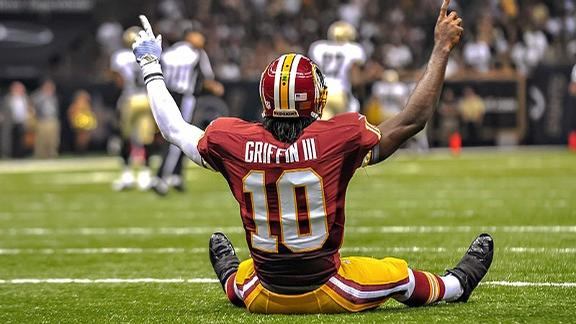 RG3 After A Touchdown Pass